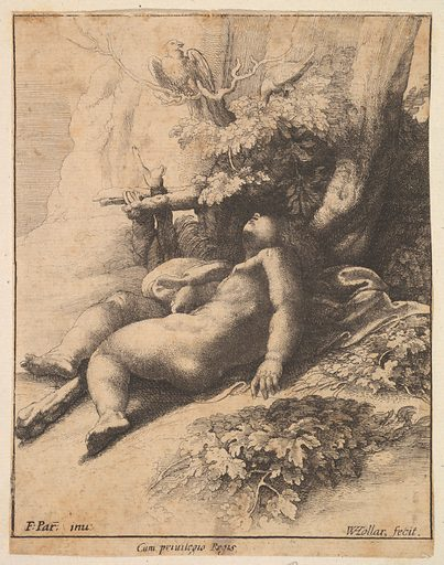 Infant Hercules asleep (1625–77). Accession number: 59.570.376.