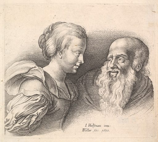 An Old Man and a Girl, after Hulsman (1635). Accession number: 60.621.32.