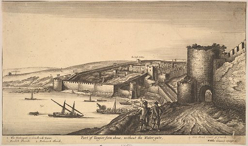 Part of Tangier from above (1670). Accession number: 62.635.877.
