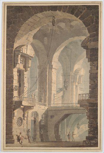 """""""Dark Prison (Carcere Oscura)"""" (1790–99). Accession number: 06.1051.3."""