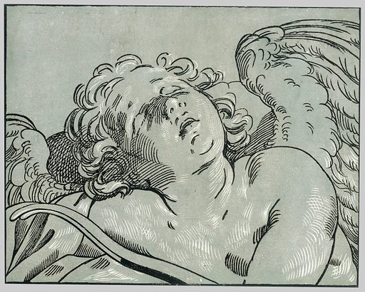 A sleeping cupid (1630–45). Accession number: 22.73.3-107.