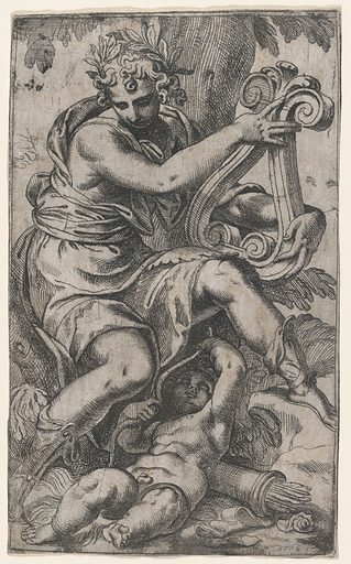 Cupid and Apollo with a lyre (ca. 1568). Accession number: 26.70.3(238).