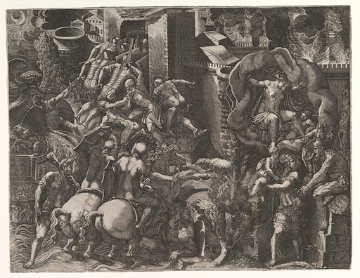 The Fall of Troy and Escape of Aeneas (mid-1540
