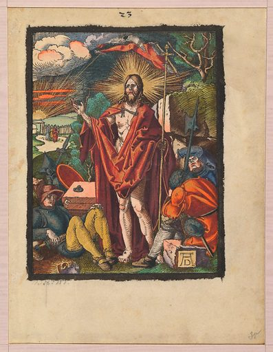 Resurrection, from the Small Woodcut Passion (n.d.). Accession number: 1975.653.112(30).