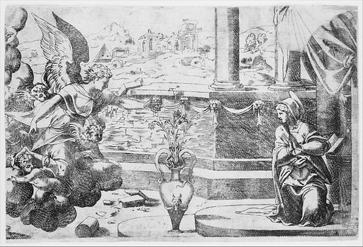 The Annunciation (ca. 1544). Accession number: 37.42.26.