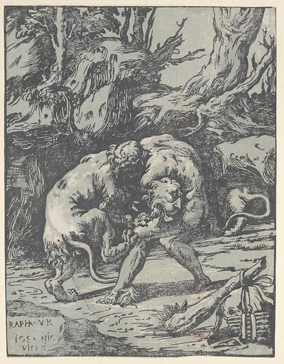 Hercules and the Nemean Lion (1540–50). Accession number: 1986.1180.247.