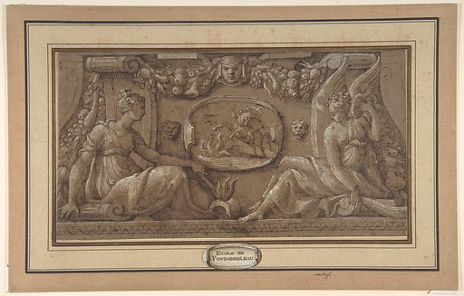 Design for a Frieze in Fontainebleau Style (19th century). Accession number: 60.620.44.