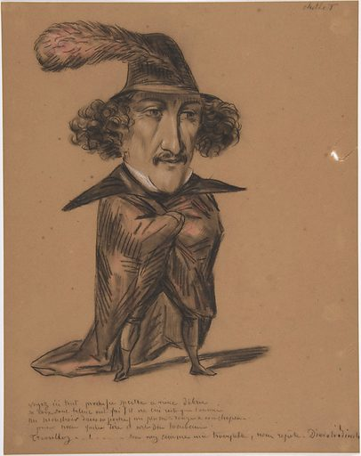 Caricature (Jean Baptiste Chollet?) (19th century). Accession number: 60.620.62.