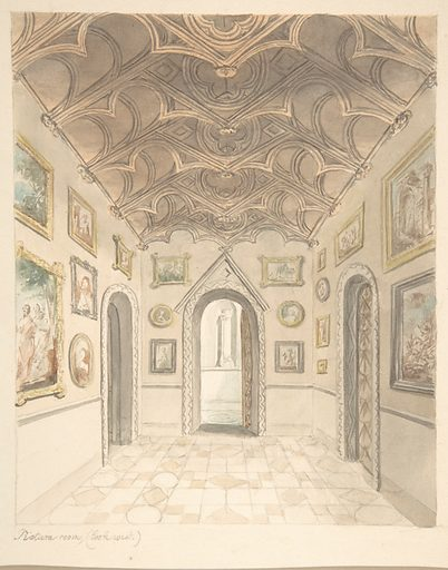 Lea Castle, Worcestershire, Picture Room, Looking West (ca. 1816). Accession number: 56.601(7).