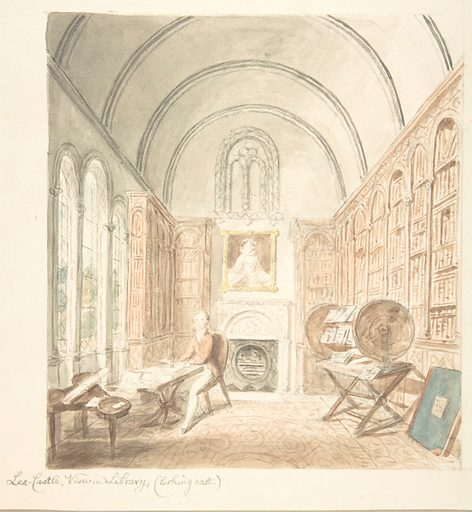 Lea Castle, View in the Library, Looking East (ca. 1816). Accession number: 56.601(8).