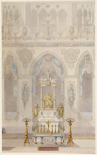 Elevation of Altar with Statue of Louis I, Reims Cathedral (n.d.). Accession number: 56.559.2.