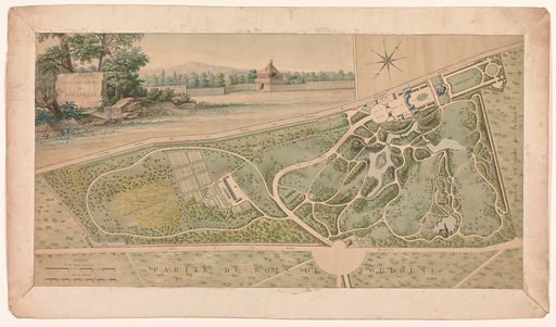 Plan for the Garden of the Château de Bagatelle (1817). Accession number: 24.66.1494.