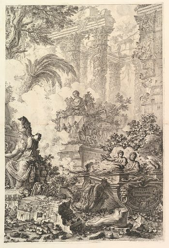 Frontispiece, with Statue of Minerva (ca. 1748). Accession number: 37.45.3(36).