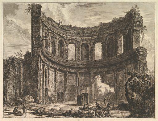 Avanzi del Tempio detto di Apollo nella Villa Adriana vicino a Tivoli (Hadrian