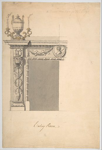 Design for a Chimneypiece in the Eating-room, Danson Park, Kent (ca. 1773). Accession number: 49.56.19.
