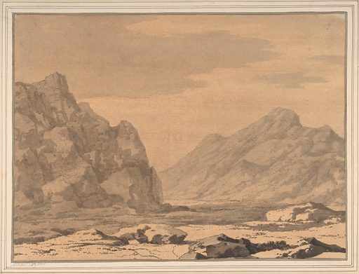 Landscape with Riverbed and Mountains (1735–86). Accession number: 30.49.7.