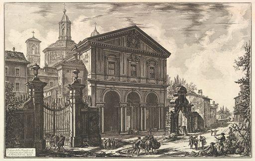 View of the Basilica of San Sebastiano fuori delle mura [St. Sebastian outside the Walls] on the Appian Way, from Vedute di Roma (Roman Views) (ca. 1750). Accession number: 60.591.5.