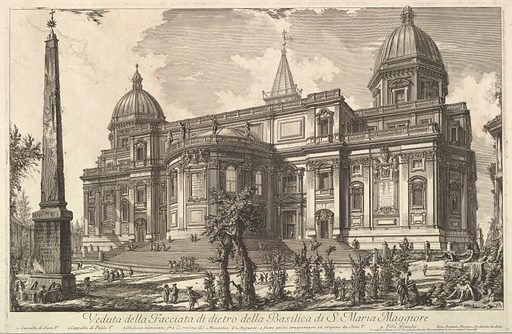 View of the rear entrance of the Basilica of S. Maria Maggiore, from Veduta di Roma (Roman Views) (ca. 1742). Accession number: 60.591.3.