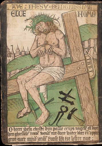 Album with Twelve Engravings of The Passion, a Woodcut of Christ as the Man of Sorrows, and a Metalcut of St Jerome in Penitence. Date: late 15th century. Accession number: 2003476.