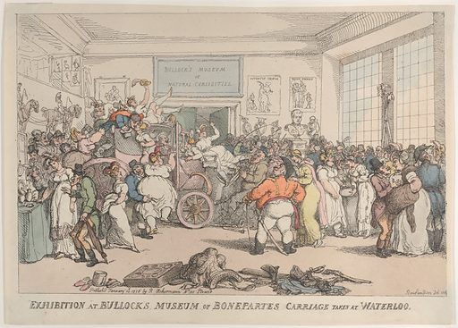 Exhibition at Bullock's Museum of Bonaparte's Carriage, Taken at Waterloo (January 10, 1816). Accession number: 17.3888–17.