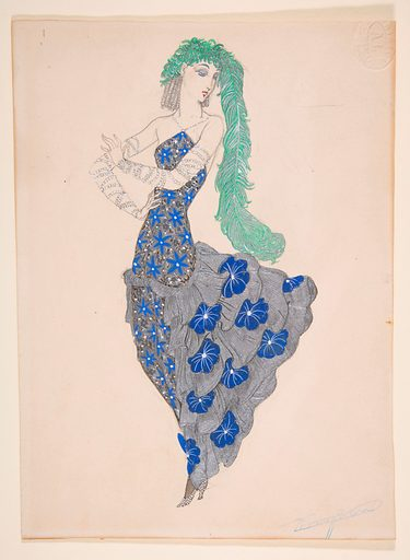 Design for a theater costume (ca. 1920–39). Accession number: 60.611.56.