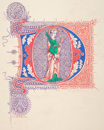 "Illuminated Initial ""D"" (1830–62). Accession number: 66.541.8."