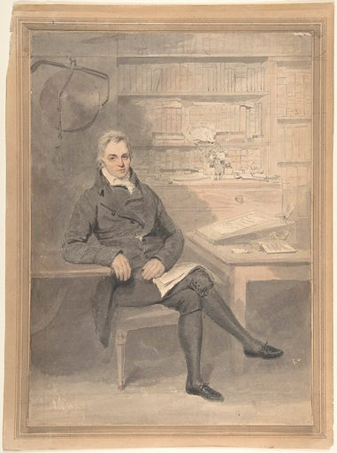 Portrait of a Man, Seated in Front of a Writing Desk (1795–1800). Accession number: 65.646.9.