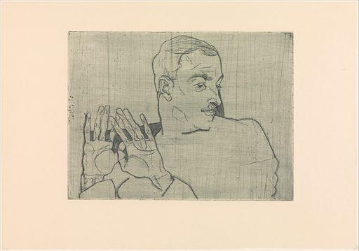 Portrait of Arthur Roessler (1914). Accession number: 1984.1203.198.5.