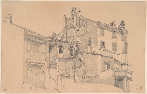 Houses on the Tiber (1838–1910). Accession number: 17.3.2418.