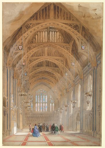 Guildhall, London: The Great Hall, Facing East (ca. 1864). Accession number: 1970.694.4.