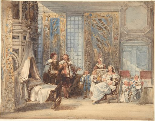 Scene with Family and Guest in Seventeenth-century Interior (1825–78). Accession number: 59.644.33.
