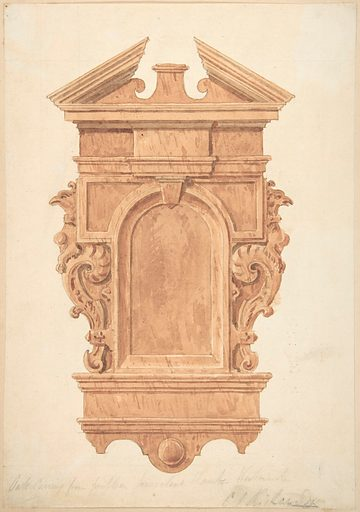 Design for Oak Carving, from the Fireplace, Jerusalem Chamber, Westminster (1820–71). Accession number: 66.562.17.