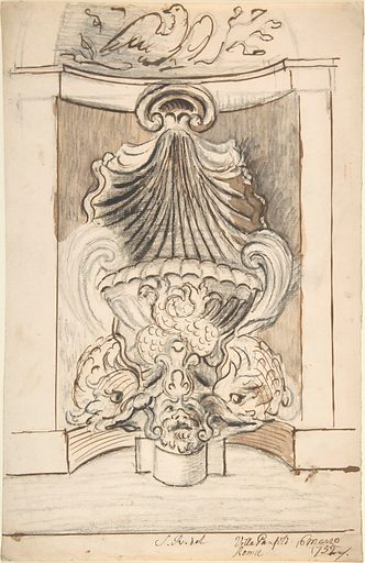 Fountain at the Villa Panfili, Italy (1752). Accession number: 63.611.32.