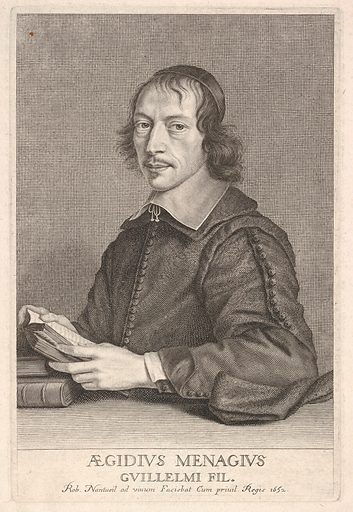 Gilles Ménage (ca 1652). Accession number: 20.13.17.