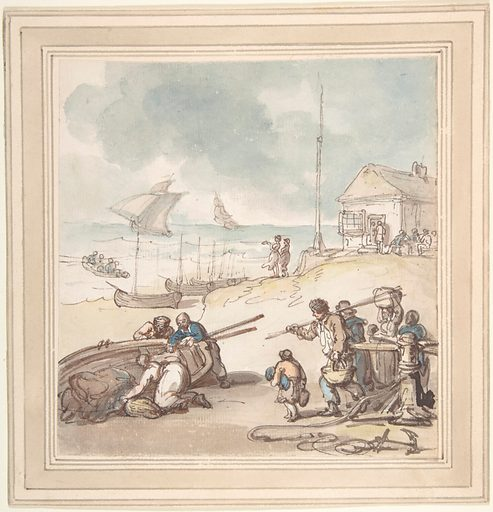 Figures by the Seashore (late 18th–early 19th century). Accession number: 59.533.1650.