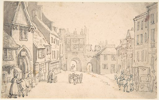 City View with Medieval Gate (perhaps York) (1775–1827). Accession number: 59.533.1654.