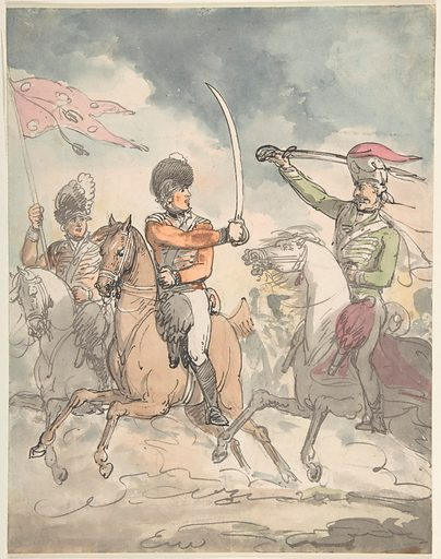 """Unused study for a plate to """"Hungarian and Highland Broadsword Exercise""""  Feb. 12, 1799 (ca. 1799). Accession number: 59.533.1661."""