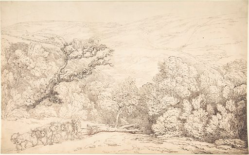 Landscape with Oxen and Felled Tree (1775–1827). Accession number: 59.533.1665.
