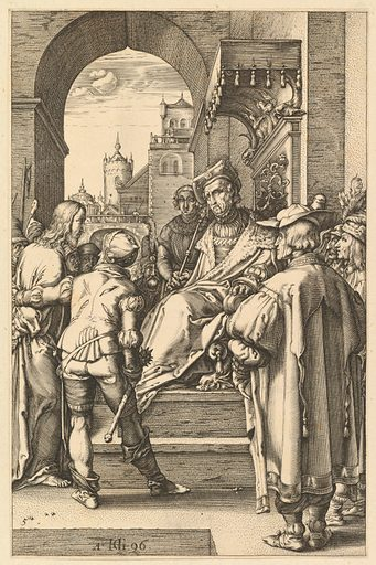 Christ before Pilate, from The Passion of Christ (1596). Accession number: 51.501.167(5).