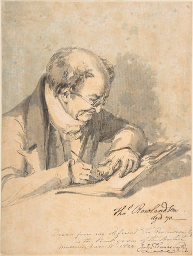 Thomas Rowlandson, aged 70 (1824). Accession number: 59.533.963.