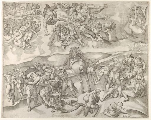 Conversion of Saul, from Michelangelo's fresco in the Pauline Chapel at the Vatican (ca. 1545–60). Accession number: 59.570.275.