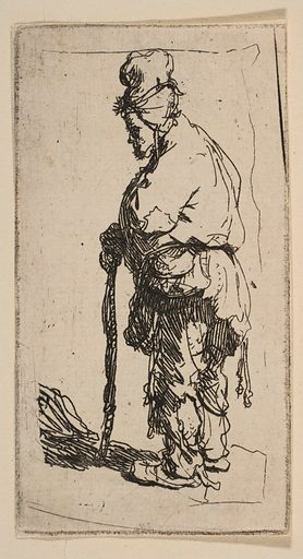 Beggar Leaning on a Stick, Facing Left (ca. 1630). Accession number: 26.72.156.