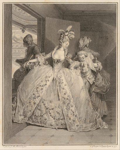 Les Adieux, from Le Monument du Costume (1777). Accession number: 34.22.1.