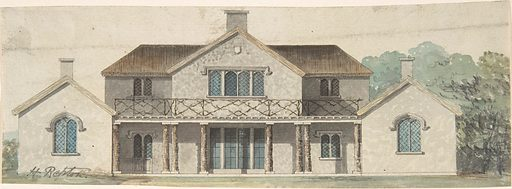 Design for a Cottage Ornée in the Tudoresque Style (late 18th–early 19th century). Accession number: 49.50.444.