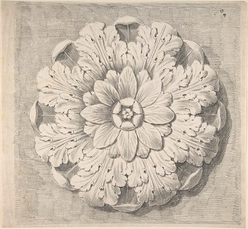 Study of a Classical Rosette (1776–79). Accession number: 34.78.2(68).