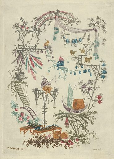 Chinoiserie from Nouvelle Suite de Cahiers Arabesques Chinois (1790–99). Accession number: 21.91.2.