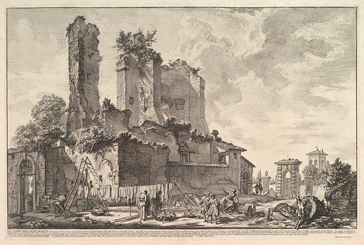 The Fontana dell'Aqua Giulia (Vedute dell avanzo del Castello del'Aqua Giulia) (ca. 1753). Accession number: 56.645.1.