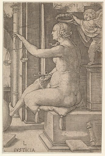 Justice, from the series The Virtues (1530). Accession number: 17.3.1147.