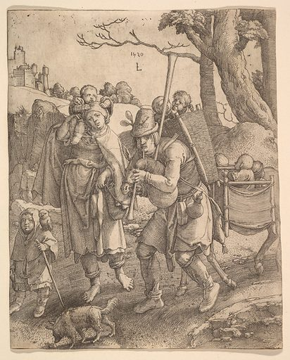The Beggars (Eulenspiegel) (1520). Accession number: 17.50.34.