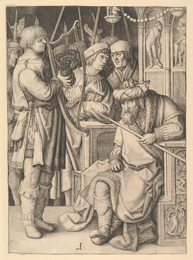 David Playing the Harp Before Saul (ca. 1508). Accession number: 18.65.7.